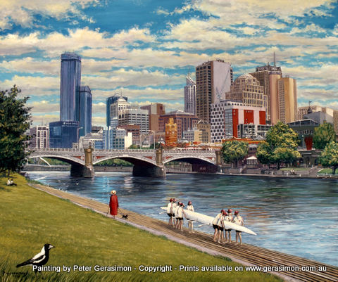 Melbourne Painting by Peter Gerasimon