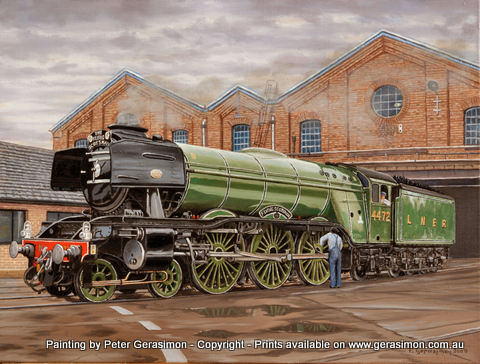 The Flying Scotsman Painting by Peter Gerasimon