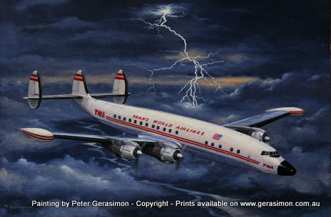 Lockheed Super Constellation Painting by Peter Gerasimon